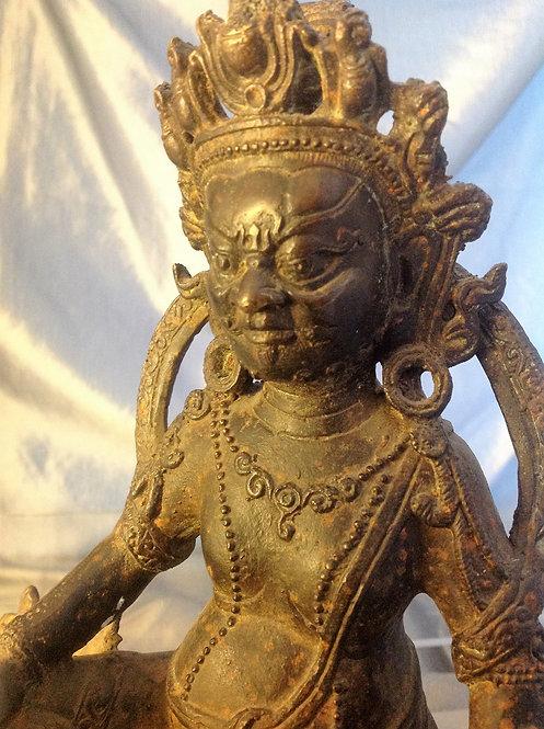 Bronze Tibetan statue of  Vaishravana c 1800