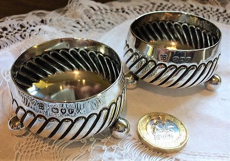 Pair of silver salts Hukin & Heath 1890