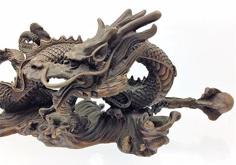 Chinese Bronze Dragon superb casting c1900