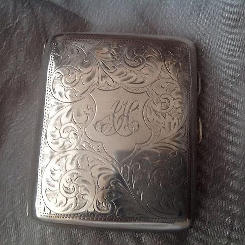 Silver Cigarette Case Birmingham 1922