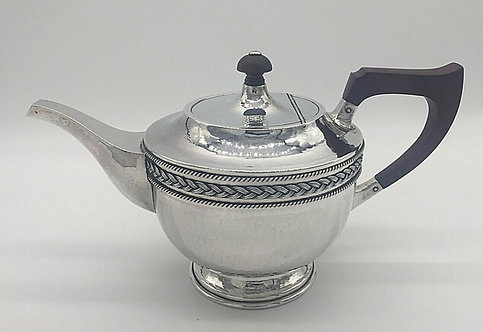 Arts and Crafts Silver Teapot A E Jones 1924
