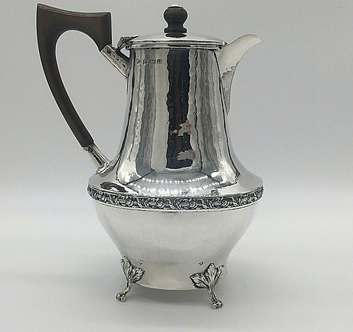 Silver lidded jug A E Jones Birmingham 1919