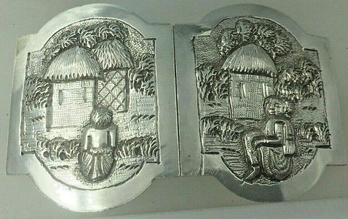 Silver belt buckle Burmese or possibly Indian, C 1910