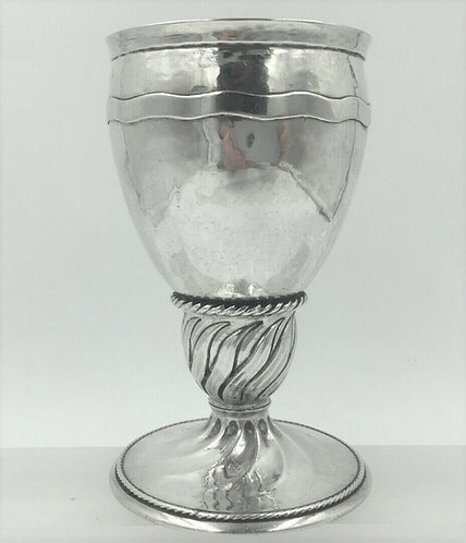 Omar Ramsden silver goblet London 1923 Arts and Crafts Silver