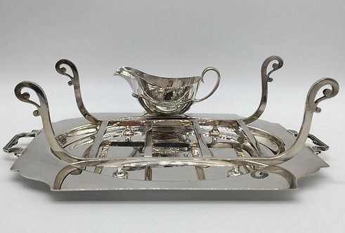 Silver plated Asparagus serving set by Goldsmiths