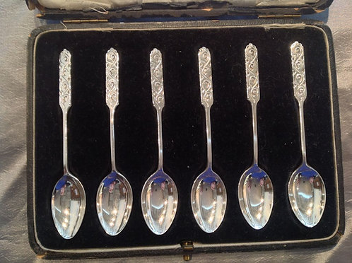 English sterling silver spoons Liberty & Co 1921