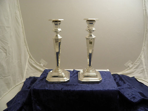 Pair quality silver candlesticks