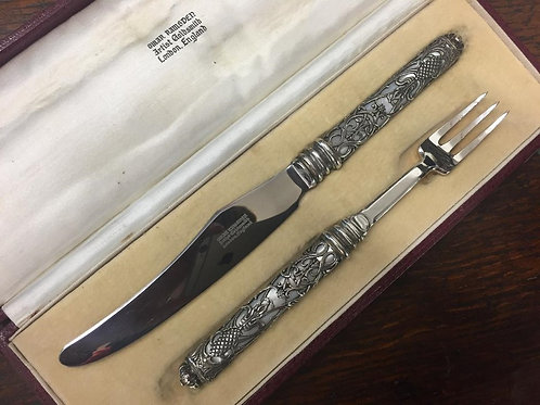 Omar Ramsden Knife and Fork set London 1936