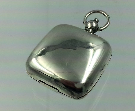 Square silver sovereign case Birmingham 1912