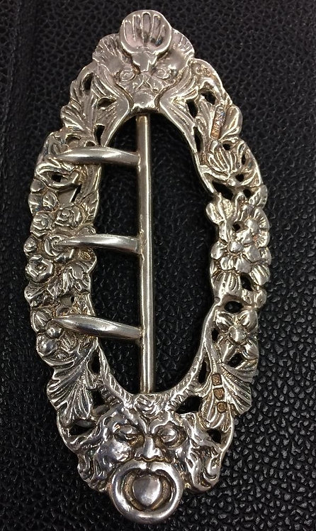Ornate Chester Silver Buckle 1897 Saunders and Shepherd