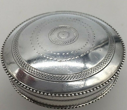 Superb french silver pill trinket box Early 20 century Paris hallmark