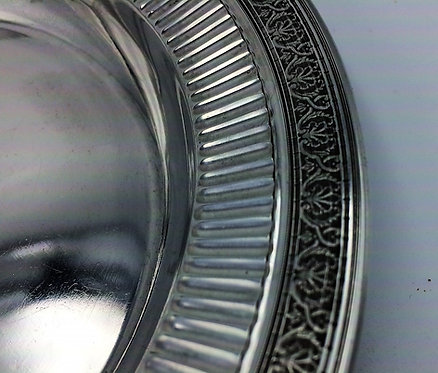Superbly engraved French silver dish or plate Charles Barrier Paris c1910