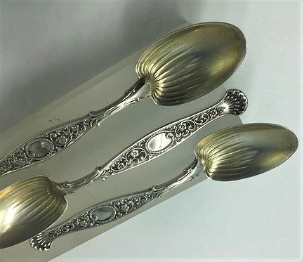 American Sterling Silver Demitasse Spoons Hyperion by Whiting C1888