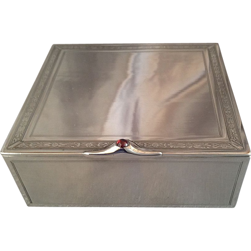 French Silver box Imported London 1905