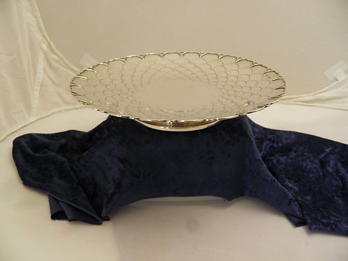 Large silver Deco dish