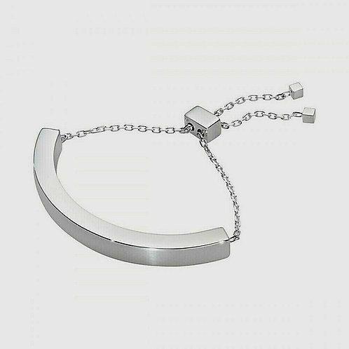 Super New Georg Jensen Aria Curve Bracelet Sterling Silver Fully adjustable
