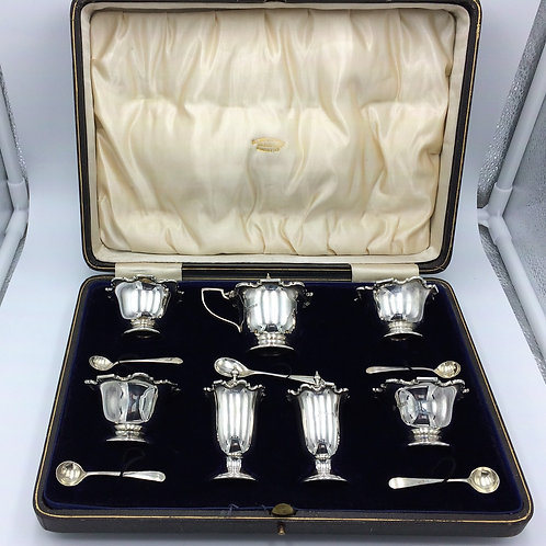 Silver Cruet Set William Hutton Birmingham 1906