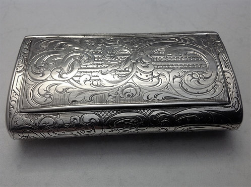 Superb quality Russian silver snuff box 1852