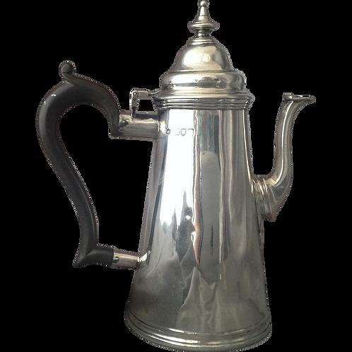 Victorian silver coffee pot London 1897