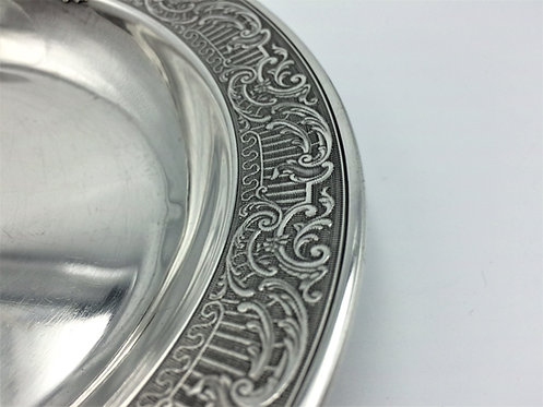 French silver dish superbly engraved dish c1890