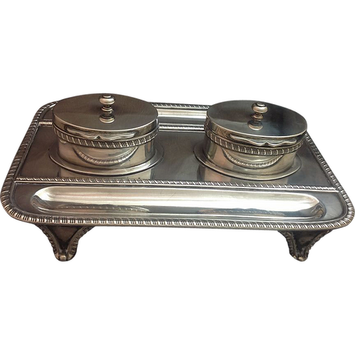 Silver Inkstand  or standish London 1893