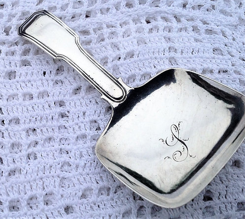 Georgian silver caddy spoon Joseph Willmore Birmingham 1818
