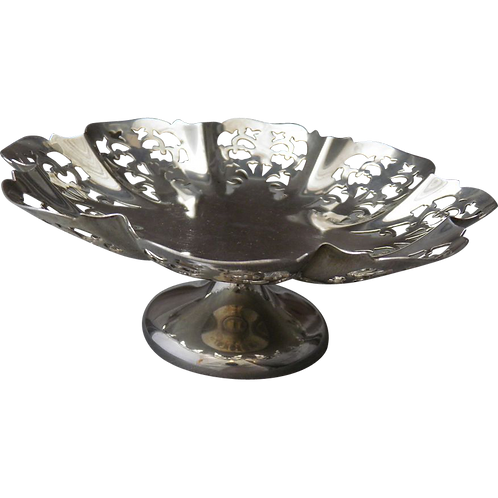 Beautiful Silver Pedestal Dish Sheffield 1939