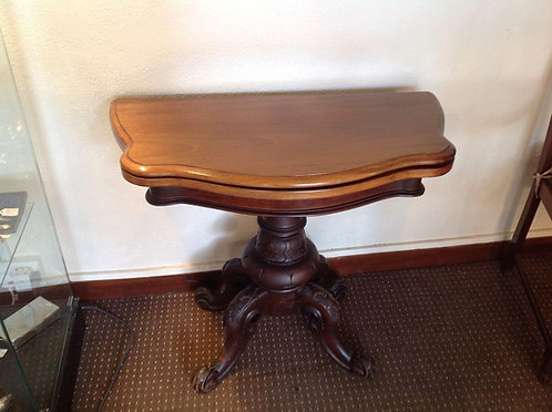 Early Victorian Mahogany fold over card table