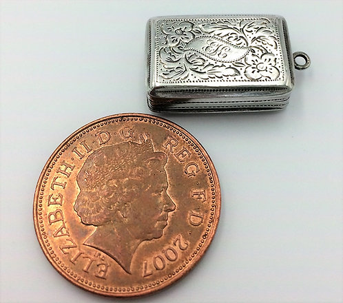 Small Silver Vinaigrette John Lawrence Birmingham 1831