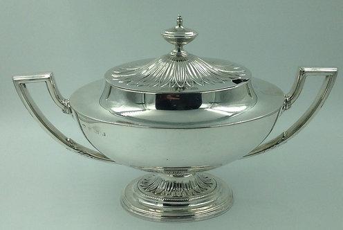Silver Sauce Tureen Wm Aiken Birmingham 1901