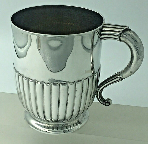 Superb Victorian Silver Christening Mug by Walter & John Barnard London 1889