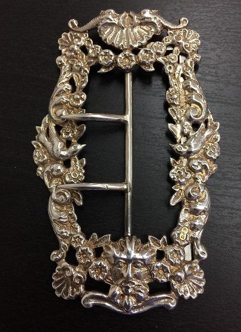 Ornate silver belt buckle Birmingham 1900 Deakin & Francis