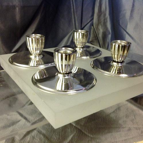 4 Georg Jensen candlesticks Harold Nielsen design