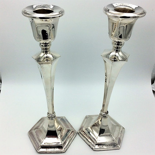 Pair of Silver Candlesticks Birmingham 1946