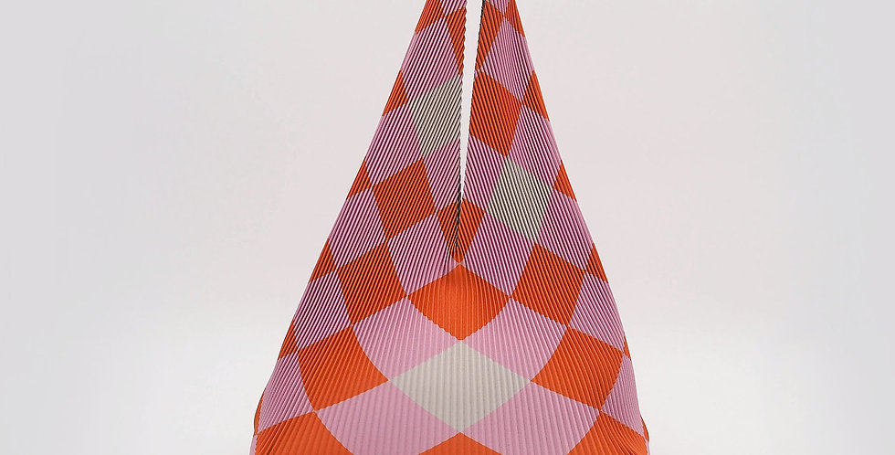 Hobo Mini Checkerboard Tangerine