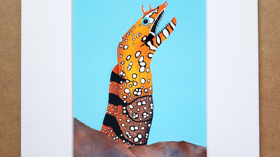 Dragon eel print