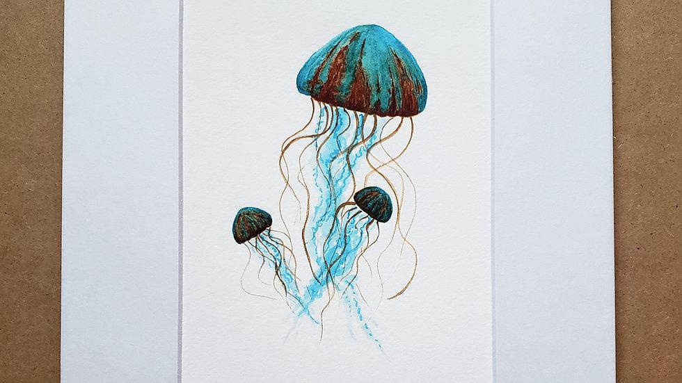 Jellyfish trio print