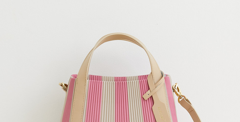 Pleated Handbag 22 ROSE