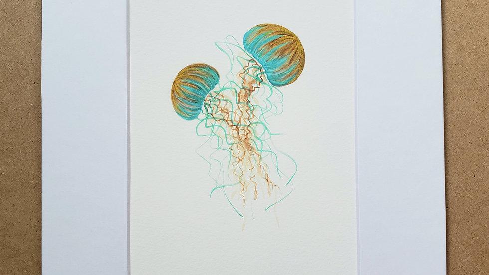 Jellyfish pair print