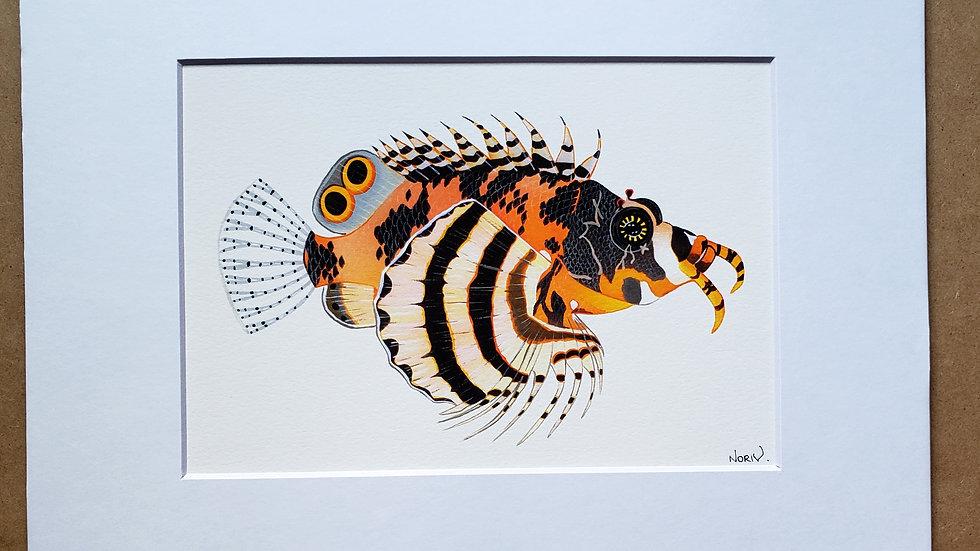 Fu Manchu Lionfish print