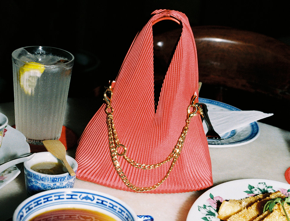 Red with gold hardware Hobo Petite