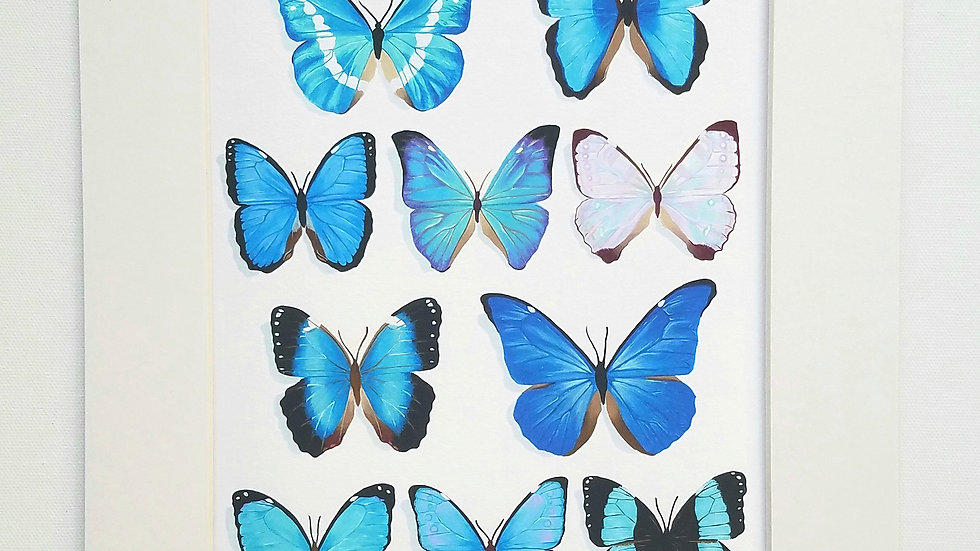 Butterfly mix print