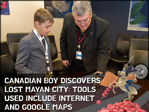 15 year-old schoolboy pulls an Indy: Discovers ancient Mayan city by studying star charts from bedro