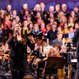 Solistin bei Hollywood in Concert II in der Stadthalle Enns (2017)