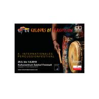 Soft-Relaunch Logo Colours of Percussion. Jahressujet für die 8. Auflage des Festivals (Webseite, Drucksorten, POS, etc.)