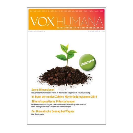 Relaunch der Fachzeitschrift VOX HUMANA 2014. Seitdem sind bereits über 16 Ausgaben á 60 Seiten im neuen Design erschienen.