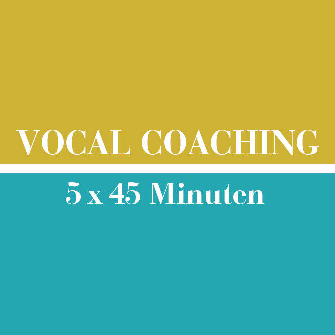 Vocal Coaching // 5 x 45 Minuten