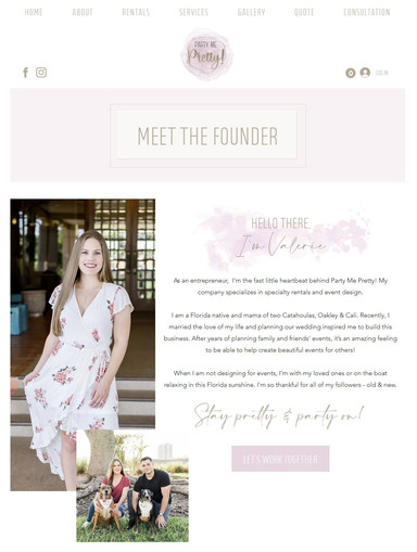 Party Me Pretty Meet the Founder