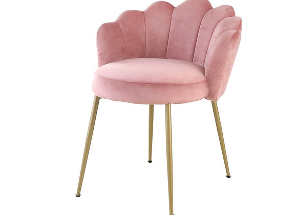 Pink Scalloped Accent Chair