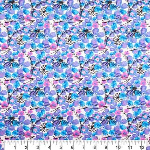 Floral - Blue & Purple